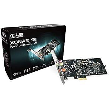 ASUS XONAR SE 5 1 Channel 192kHz/24-bit Hi-Res 116dB SNR PCIe Gaming Sound  Card with Windows 10 Compatibility