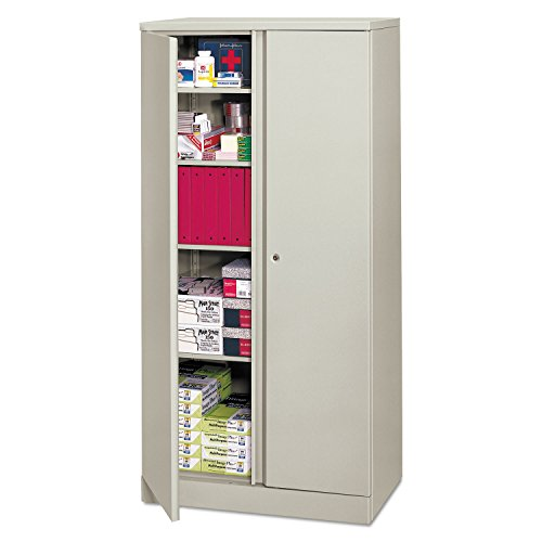 HON Metal Storage Cabinet , 5 Shelves , 36''W x 18''D x 72''H , Light Gray Finish by HON