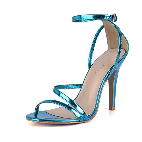 ZHZNVX Pink donna estate banchetti interessante scarpe sexy nuovo cinture e sono Sandali donna traliccio state che Purple calzature specchio T0qx1Tg