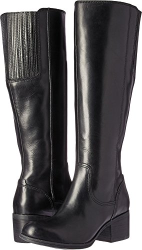 CLARKS Women's Maypearl Viola Riding Boot, Black