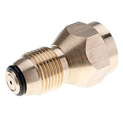Inverlee 100% Brass Propane Refill Adapter Lp Gas 1 Lb Cylinder Tank Coupler Heater