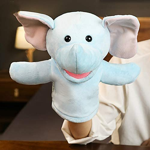 Floppy Mooie hond Elephant Wolf Frog Elephant Cow Monkey Lion Plush Toy Glove Cosplay Party Kostuum Cheerleaders Toys Gift Helder