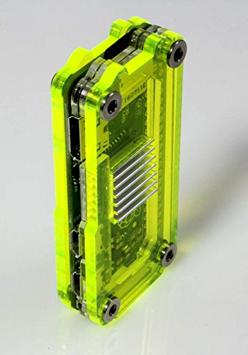 Zebra Zero for Raspberry Pi Zero & Zero Wireless - Laser Lime w Heatsinks by C4 Labs (Image #3)