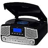 Vitrola Jazz Preta Com Fm, Cd, Usb, Sd, Bluetooth, Bivolt, Raveo, Jazz Preta,