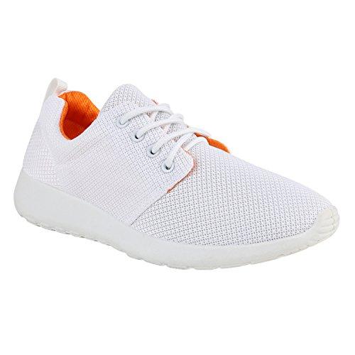 Bottes Paradis Dames Unisexe Hommes Enfants Chaussures De Sport Course Sur La Taille Flandell Blanc Orange