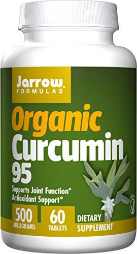 - Jarrow Formulas Organic Curcumin 95, Turmeric Antioxidant Support 500 mg Tablets, 60 Count