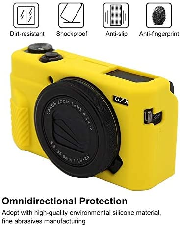 Color : Yellow MEETBM ZIMO,Soft Silicone Protective Case for Canon EOS G7 X Mark II
