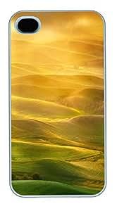 iPhone 4S CaseGolden Light Palouse PC Custom iPhone 4/4S Case Cover White
