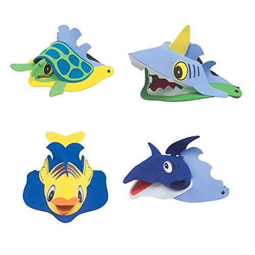 Sea Animal Visors (1 Dz) (2, Child size. Adjustable.) ()