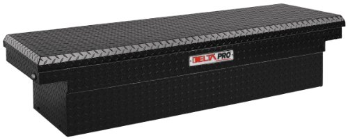 JOBOX PAC1582002 Black Aluminum Single Lid Fullsize Deep Crossover Truck Box