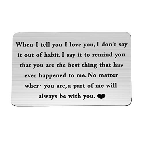 ENSIANTH Wallet Card Insert When I Tell You I Love You Wallet Card Groom's Gift for Him (Be with You) by ENSIANTH