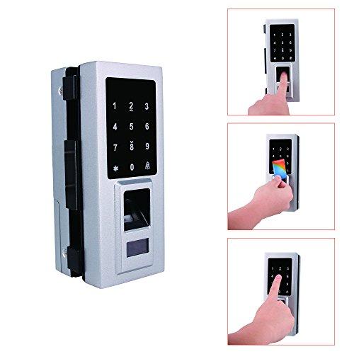 Security Biometric Fingerprint Door Lock for Glass Door, Free Punching,Supporting Double Open-Door and Single Open-door by Porlik (Image #2)