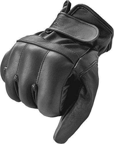 Security Quarzsandhandschuhe aus echtem Leder Farbe Schwarz Größe M
