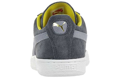 Puma Suede Classic RTB Leather Sneaker Men Trainers grey 356850 07 turbulence-grey-yellow-white-gold