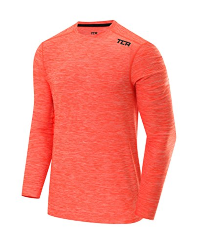 Galaxy Training Top (TCA Men's Galaxy Long Sleeve Training Top - Burnt Orange, L)