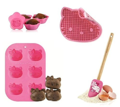 SiliconeZone Hello Kitty 9pc Silicone Cupcake & Muffin Baking Set by SilconeZone