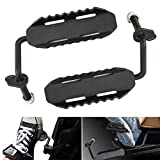 TOPNEW Black Steel Jeep Foot Pegs, Exterior Door Hinge Foot Rest Peg Pedal for Jeep Wrangler JK JKU 2007-2016 (Pair)