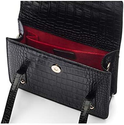 SageBrown Mini Cross Body Harmony Bag Black Croc