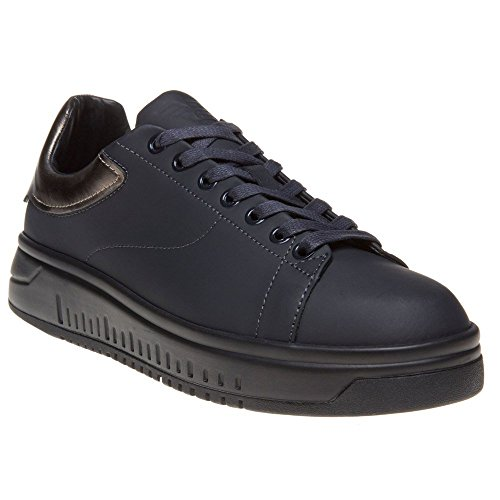 Emporio Armani Logo Wedge Uomo Sneaker Blu