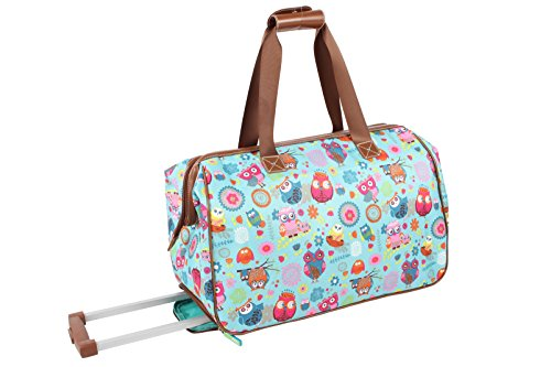 Lily Bloom Luggage Designer Pattern Suitcase Wheeled Duffel Carry On Bag (14in, Owls Always Love You) by Lily Bloom (Image #2)