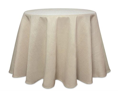 Diva At Home Set of 2 Rustic Cream Jute Round Table Cloth 96