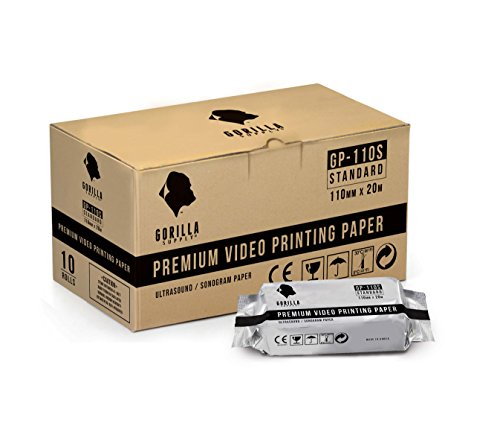 Gorilla Supply 10 Rolls Ultrasound Video Printer Paper Replacement for Sony UPP-110S Mitsubishi KP61S-CE (Standard)