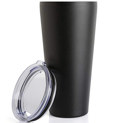 - 32oz Tumbler Double Wall Vacuum Insulated Coffee Mug Stainless Steel Coffee Cup with Lid, Travel Mug Works Great for Ice Drink, Hot Beverage (1 pack, Black)