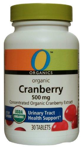 O Organics Cranberry 500 mg, 30-Count Bottle