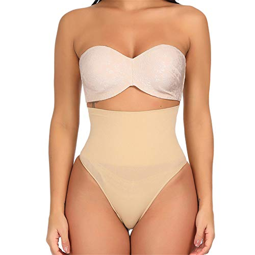 - Women's Shapewear Seamless Firm Control Bodysuit Tummy Slimmer Panty Sexy Thong Trimmer Nude