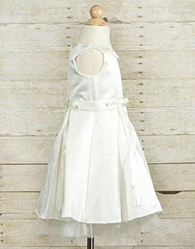 1 Pc. Taffeta Silk Dress Child 2 White