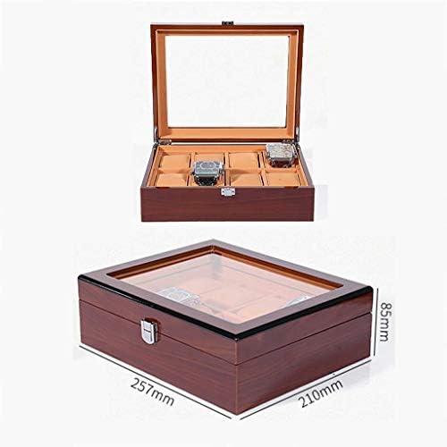 SBSNH ストレージボックス-木製レトロ8ビットウォッチボックスウォッチストレージコンソリデーションボックスウォッチコレクションディスプレイボックス