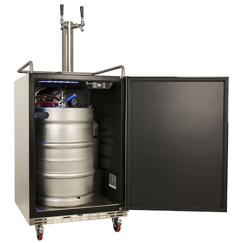 Outdoor Kitchen With Kegerator : Edgestar full size dual tap built in outdoor kegerator