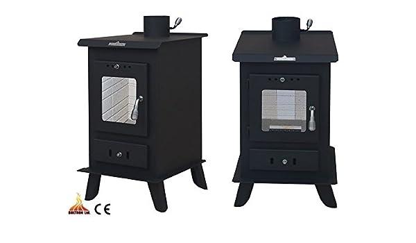 Estufa de leña 10 kW quemador de poste de madera maciza de combustible/carbón: Amazon.es: Bricolaje y herramientas