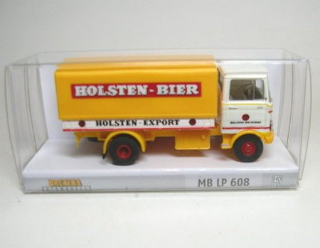 ho-scale-1965-1984-mercedes-benz-lp-608-low-sided-delivery-truck-assembled-holsten-bier-yellow-white