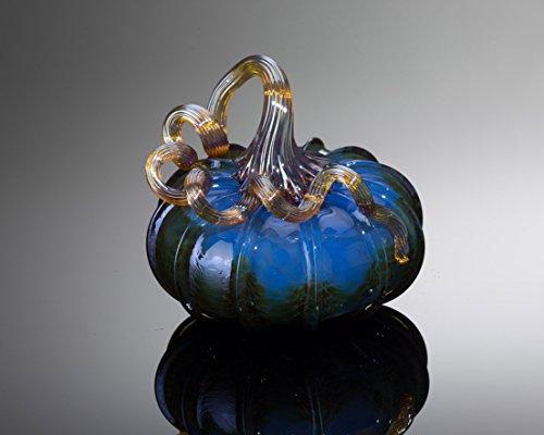 Pumpkin, Walker & Bowes Blue Glass Pumpkin 0222