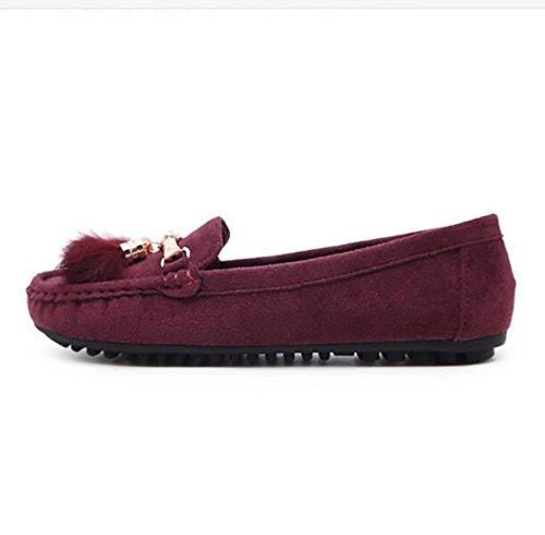 SHANGXIAN Transpirable US6 UK4 EU36 Plano CN36 Purple Plantilla Zapatos Ponible Suela Zapatos Casual Ante Purple Ligero Mujeres fYfqxrpwB