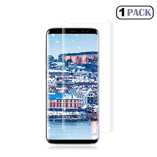 Loopilops Samsung Galaxy S8 Screen Protector 3D Curved Tempered [Anti-Bubble][9H Hardness][HD Clear][Anti-Scratch][Case Friendly] Glass Screen Film for Samsung Galaxy S8