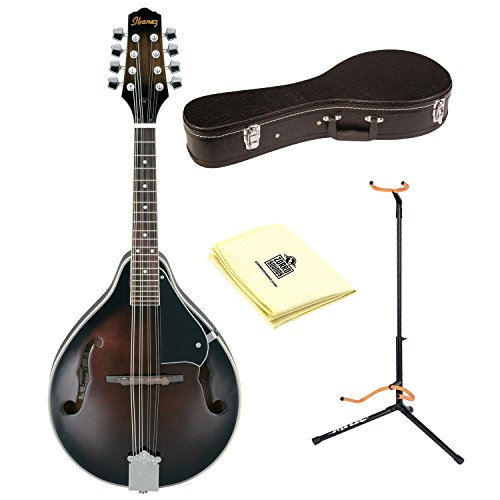 Ibanez M510DVS Mandolin in Dark Violin Sunburst With Polishing Cloth, Matching Hardcase and Stand by Ibanez