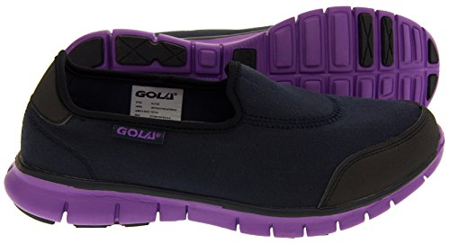 8 Navy 3 Ladies Flat 5 Purple Trainers Shoes Womens 4 NEW Blue Sports 6 GOLA Pumps amp; Running Size 7 vravZxw