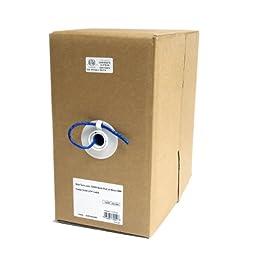 StarTech.com 1000 ft Bulk Roll of Blue CMR Cat5e Solid UTP Cable