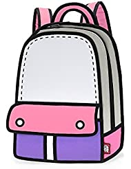 JumpFromPaper Pink Adventure Backpack, Bag for Women, Laptop, Design, Cute, Cartoon, Unique Bag