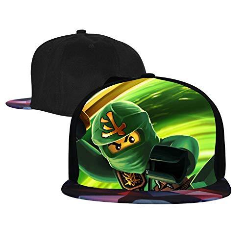Unisex Green_Ninja_G0 Baseball Cap Hip Hop Snapback Adjustable Flat Bill Hat for Men Women -