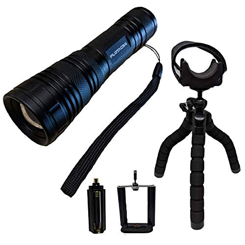 (Practical Life Gear PLGTAC114 Wide Flood Beam LED Tactical Flashlight Kit - 18650 Zoomable IP44 Water Resistant 5-Mode - for Camping,Hiking,Fishing,Bug Out Bags, Emergencies,Law Enforcement,Military)