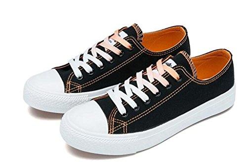 XIE Señora Zapatos Verano Clásico Clásico Cama y desayunos Zapatos de Lona Ocio Movimiento Cómodo Correr Estudiantes Diario Cuatro Colores, 1.003cm*0.356cm, 39 BLACK-37