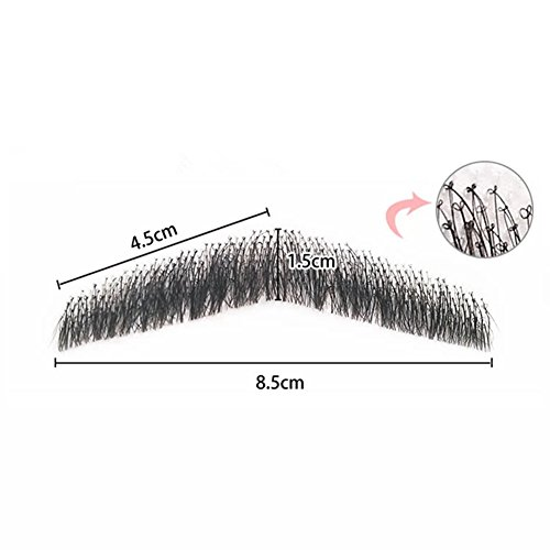100% Human Hair Full Hand Tied Men Fake Beard Mustache for Entertainment//Party/film (Buy Fake Beards)