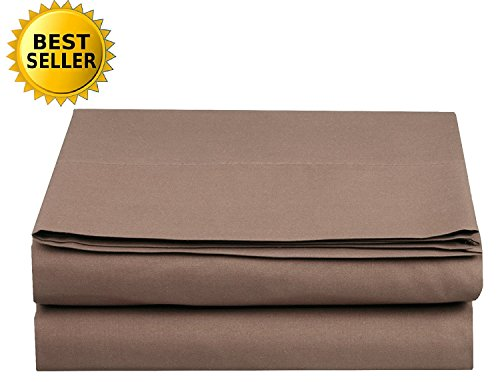 Luxury Fitted Sheet on Amazon Elegant Comfort Wrinkle-Free 1500 Thread Count Egyptian Quality 1-Piece Fitted Sheet, King Size, Taupe (Fitted Sheet Suede)