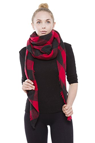 The 8 best red check scarves