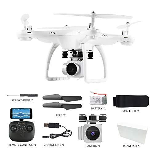 MOZATE HJ18W 2.4Ghz FPV WiFi 1080P HD Camera Remote Control RC Quadcopte Selfie Drone (White) by MOZATE (Image #2)