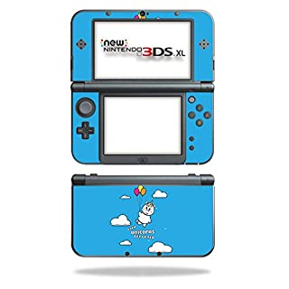 MightySkins Skin Compatible with Nintendo New 3DS XL (2015) - Unicorns Get Lifted | Protective, Durable, and Unique Vinyl Decal wrap Cover | Easy to Apply, Remove, and Change Styles | Made in The USA