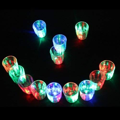 LED-Cube® 24 Flash Light Up Cups Flashing Shots Light 24 LED Bar Night Club Party Drink by LED-Cube (Image #2)